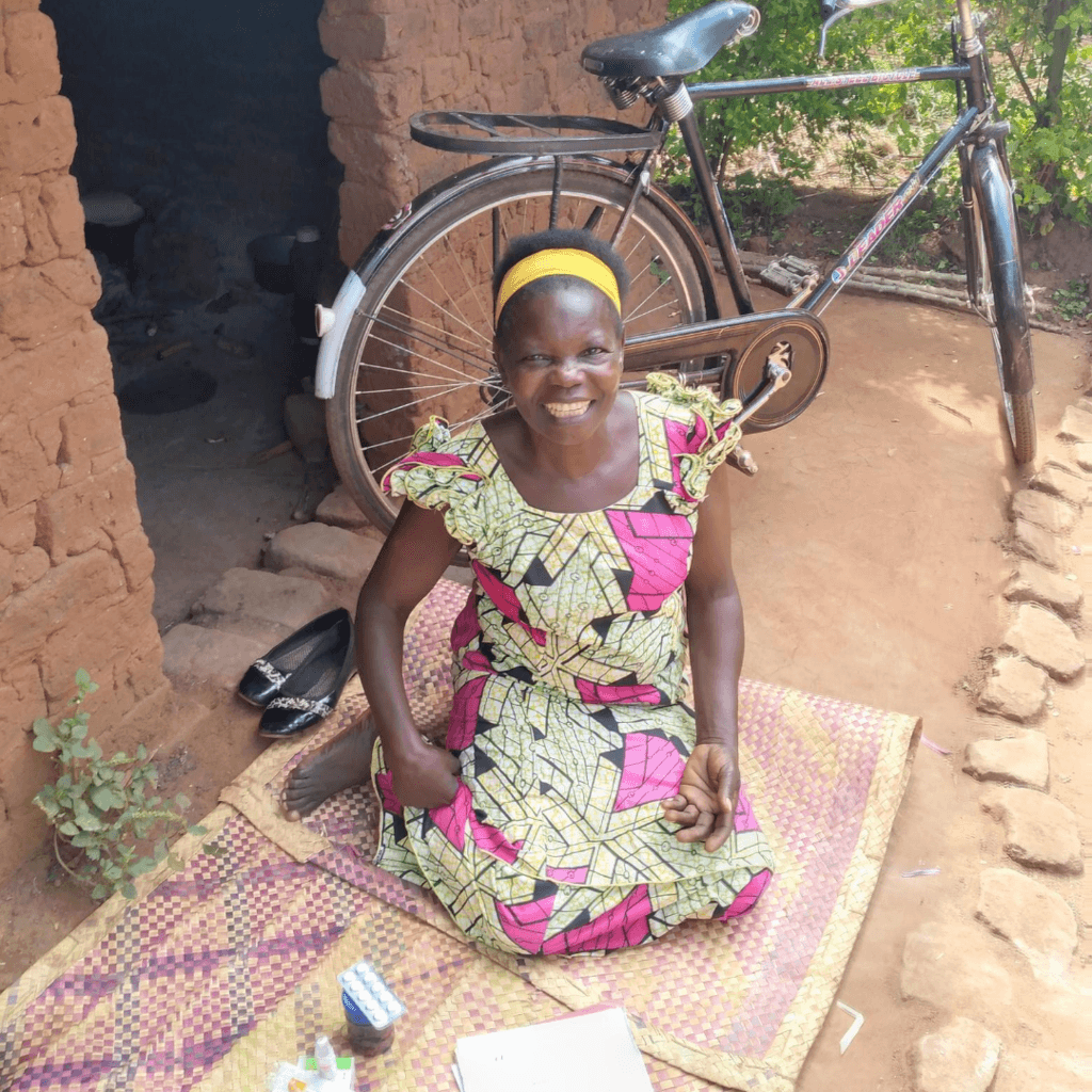 Tapensisi was able use a bicycle to access hospital treatment during the ongoing coronavirus pandemic.