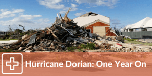 A house destroyed during Hurricane Dorian