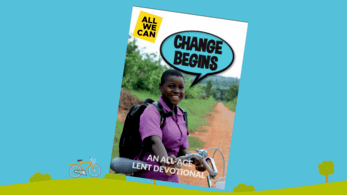 An image of the Change Begins Lent resource for families